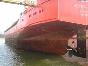 כלי שייט במספנות ישראל בחיפה. צילום: נועה שנקר
