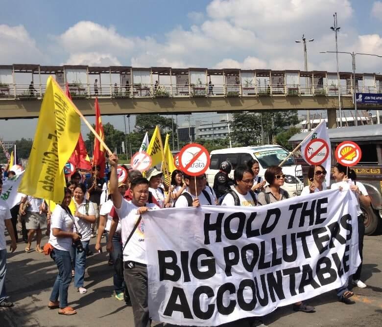 מחאה נגד החברות המזהמות בפיליפינים, 2015