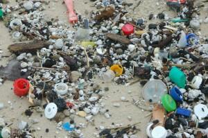 פסולת פלסטיק שנשטפה אל החוף מהים התיכון. תצלום: ארבל לוי