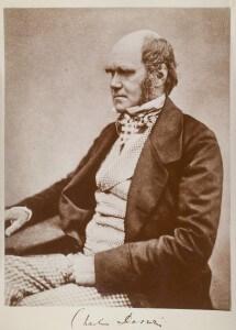 """צילום של צ'רלס דרווין מעט לפני פרסום הספר """"מוצא המינים. Henry Maull (1829–1914) and John Fox (1832–1907) (Maull & Fox, University College London Digital Collection"""