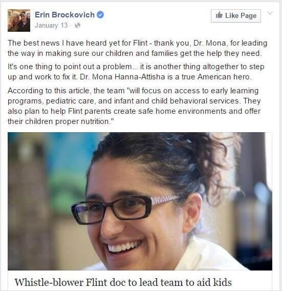 ארין ברוקוביץ' מכריזה על היורשת. צילום: מתוך דף הפייסבוק