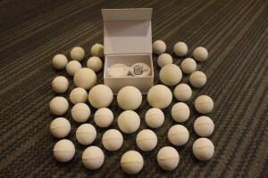 הביצים הממושדרות עשויות גומי ומודפסות במדפסת תלת ממד. צילום: Paso Pacifico