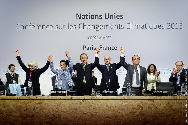 ההכרזה על הסכם פריז בדצמבר 2015. צילום: COP PARIS, Flickr